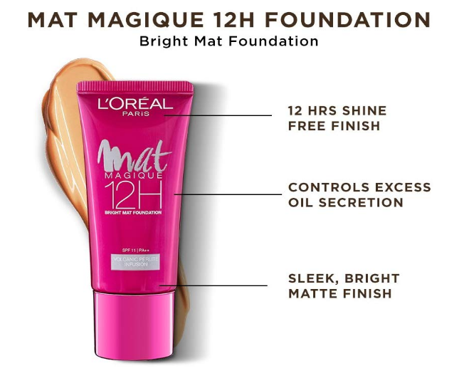 L'Oreal Mat Magique 12H Bright Mat Foundation Review